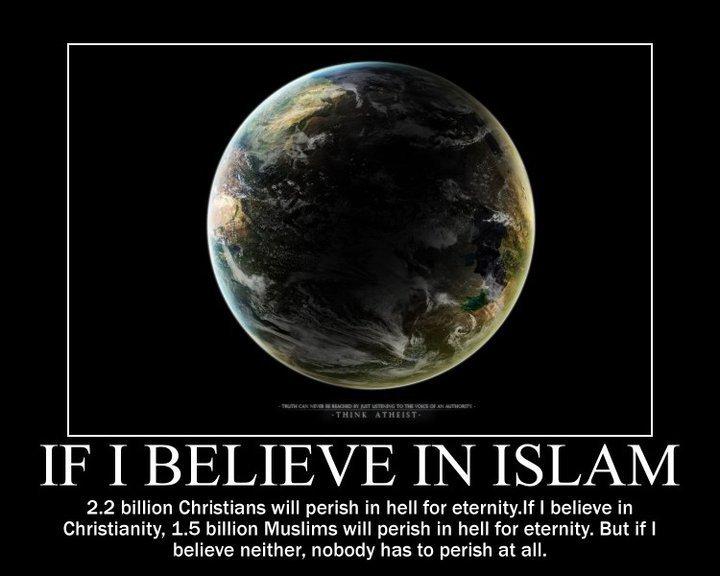 Islam christiainity atheism